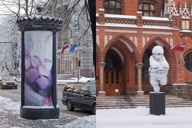 Par meitenēm labāk neizteikties. Gan uzlūkojot H&M vieglprātīgo reklamētāju Kr. Valdemāra ielā, gan arī Villendorfas Venēru pie Mākslas akadēmijas, žēlumā sažņaudzas sirds.