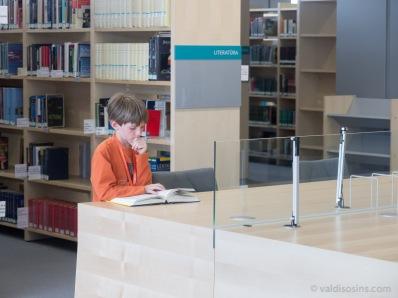 Jaunais lasītājs kādā no lasītavām