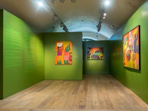 Dainas Dagnijas izstādes ekspozīcija